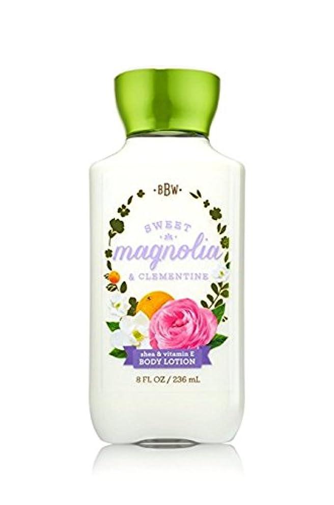 見捨てる拡張排出【Bath&Body Works/バス&ボディワークス】 ボディローション スイートマグノリア&クレメンタイン Body Lotion Sweet Magnolia & Clementine 8 fl oz / 236 mL [並行輸入品]