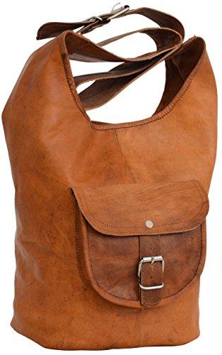 Gusti Shopper Ledertasche Damentasche Braun Leder