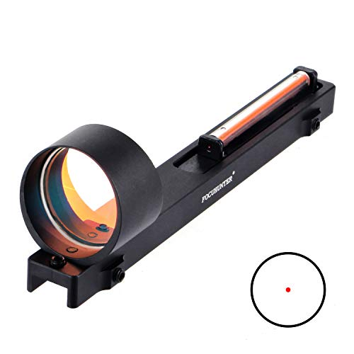 FOCUHUNTER Fiber-Rotpunktvisier Zielfernrohr 1x25mm Taktisch-optisches Outdoor-Schießvisier Jagd Holographisches Reflexvisier für 11mm Flintenlaufschiene
