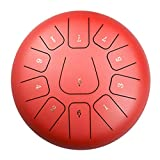 Qianyuyu Tambor de Lengua de Acero 11 Notas 10 Pulgadas Tambor de Mano Percusión Instrumento...