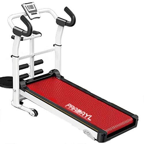 CWYPC Laufband, Laufband Klappbar Treadmill Walking Laufband Für Zuhause Mechanisch Tapis Roulant Fitnessgerät, 3 Steigungsstufen, Bis 120 Kg, LCD Bildschirm, Fitnessred