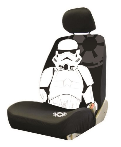 Plasticolor 006933R01 Star Wars Stormtrooper Low Back Universal Fit Car Truck SUV Seat Cover