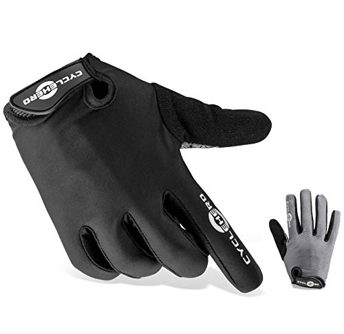 CYCLEHERO Komfortable Fahrradhandschuhe (Lange Version) MTB Handschuhe, (schwarz - lang, XL)