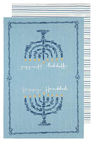 Now Designs Kitchen Towels, Set of Two, Happy Hanukkah