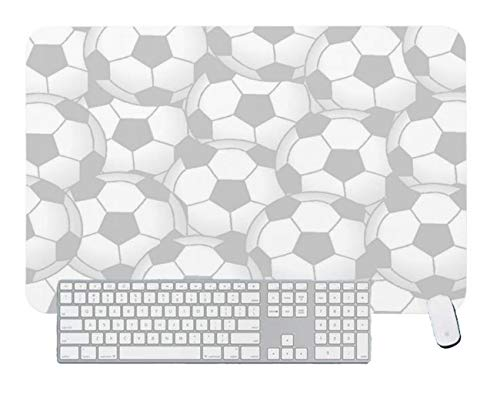 Gaming Mouse Pad White Football for Desktop and Laptop 1 Pack 800x300x3mm/31.5x11.7x1.1 in