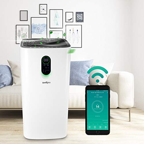 lovittyAir Air Purifiers for Home Large Room 2100 Sq. Ft., H13 HEPA filter Air Purifier Smart WIFI for Whole House, Cleaner for Mold, Smoke, Pollen, Dust, Allergies, Pets at Office,Bedroom,Living room