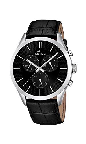 Lotus 18119/2 - Reloj para Hombre, Cuarzo, cronógrafo, cronógrafo, Correa de Piel, Color Negro