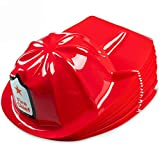 Firefighter Party Hats, (Pack Of 24) Child Size, Fire Chief, Bright Red, Plastic Hats, For Kids Dress Up, Birthday Party's, Goodie Bags, And Decorations