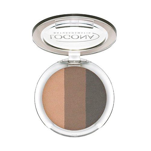 LOGONA Naturkosmetik Eyeshadow Trio No. 02 Cashmere, Natural Make-up, Lidschatten, abgestimmte Farben, mit Anti-Aging-Wirkung, Bio-Extrakte, Vegan, 4 g