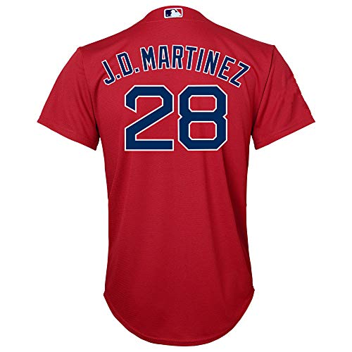 J.D. Martinez Boston Red Sox Red Youth Cool Base Alternate Replica Jersey (Small 8)