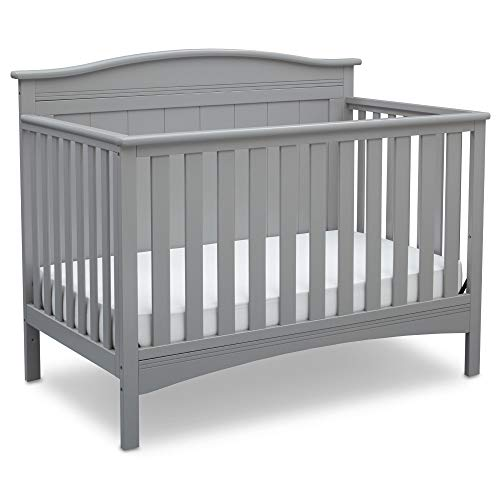 Delta Children Bennett 4-in-1 Convertible Baby Crib, Grey