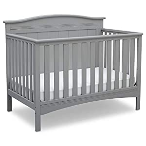 Delta Children Bennett 4-in-1 Convertible Baby Crib, Grey