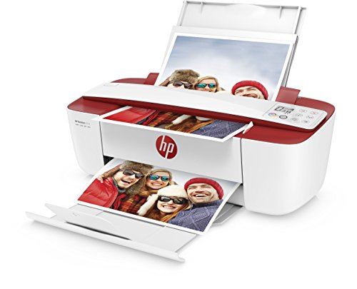HP DeskJet 3733 Multifunktionsdrucker (Instant Ink, Drucker, Scanner, Kopierer, WLAN, Airprint) rot mit 3 Probemonaten HP Instant Ink inklusive