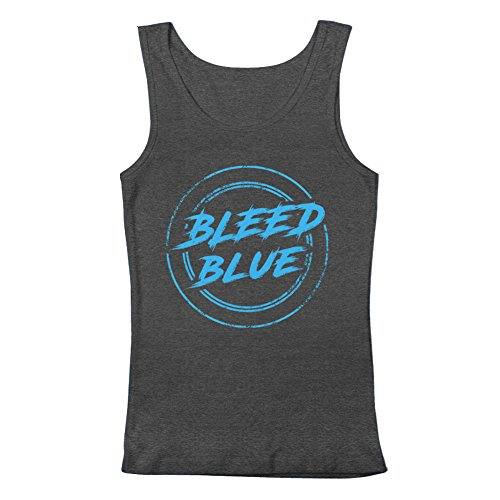 GEEK TEEZ Dota 2 Inspired Team EG Bleed Blue Men's Tank Top Charcoal XX-Large