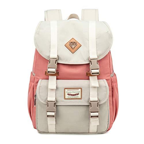 Schulrucksack Mädchen Teenager,Rucksack Damen mit mit Laptopfach & Anti Diebstahl Tasche,Laptop Rucksack Schule (Rosa)
