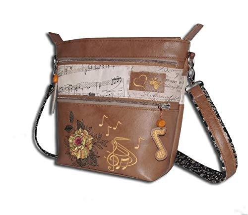 Handtasche Damen Umhängetasche Schultertasche Crossbag Schuhtasche Musiktasche