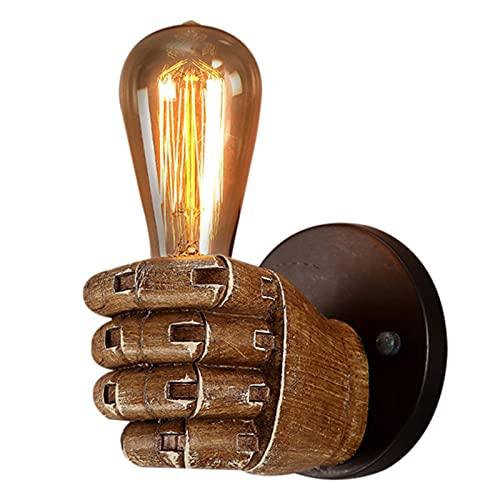 Zuoye Portátil lámpara de pared titular vintage puño mano vanidad E27 estante de luz loft retro sala dormitorio escalera decoración