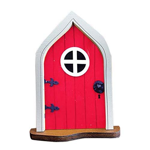 foreverH Miniatur Haus Tür Fenster Mini Garten Tür kreative Dekor Handwerk Set für Bäume, Garten-Skulptur