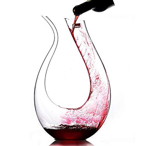 1300ml Vertedor de Vino, Aireador de Rojo Vino,Jarra Elegante para Vin