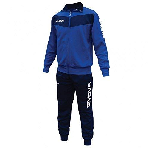 Givova Visa - Tuta Sportiva Uomo, Multicolore (Azzurro Cielo/ Blu), M