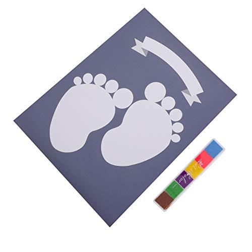 PRETYZOOM Bebé Huella Kit Huella de Huella Digital Árbol Bebé Ducha Signo en Cartel Regalos de La Ducha de Bebé Vivero Decoración