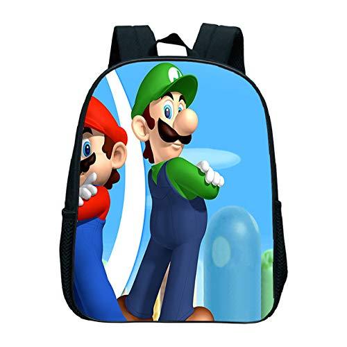 MIAOGOU Super Mario Anime Backpack Children Kindergarten Backpack Kids Book Bag Girls Boys School Bag Mario Backpack Girls School Bags