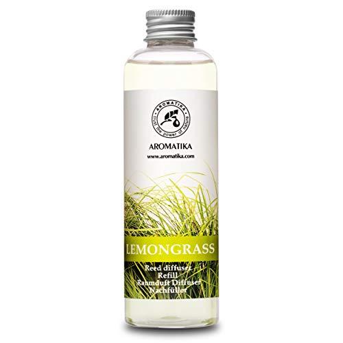Recharge Diffuseur de Parfum 200ml - Arôme Lemongrass À l'huile de Lemongrass Essentielle Naturelle - Fragrance Fraîche et Durable