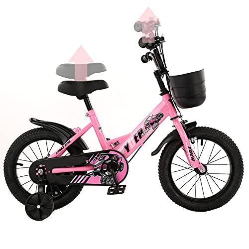 LFFME Bicicleta para Niños De 12/14/16 Pulgadas, Bicicleta para Niños De Altura Ajustable para 2-7 Años, Bicicleta para Niños Primeros Regalos De Cumpleaños,A,12