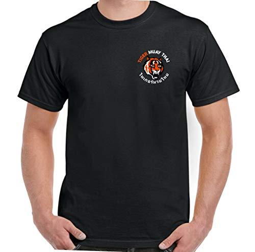 Tiger Muay Thai 1 Camiseta de Manga Corta Gráficos de Tendencia Pirografía Suelta con Cuello Redondo Camiseta 3D Moda con Cuello en o Estudiante Ocio Viaje Viaje Trabajo
