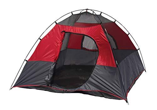 Texsport Lost Lake Square Dome Camping Outdoor Tent, Molten Lava/Grey