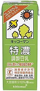 キッコーマン 特濃 調整豆乳 200mlパック×18本 2ケース