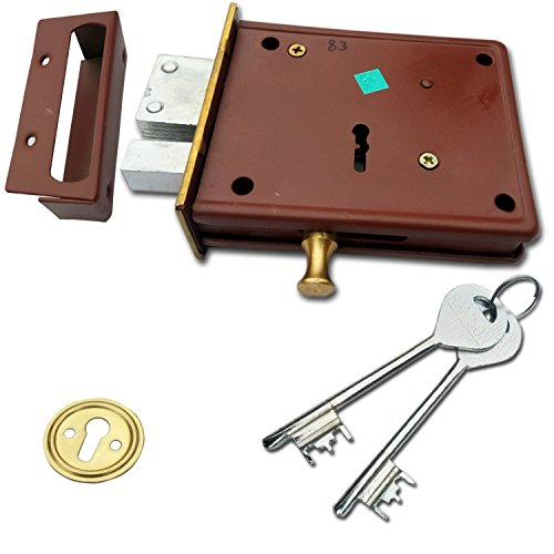 Ramson Iron Dyna Classic Brass 6 Levers Double Chal Door Inter Lock with a Tower Bolt (100 Mm, Gold)
