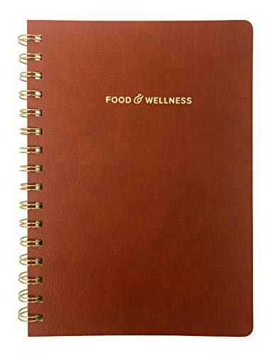 Food and Exercise Journal for Women. Track Meals  Nutrition and Weight Loss - 90 days (Walnut Brown)