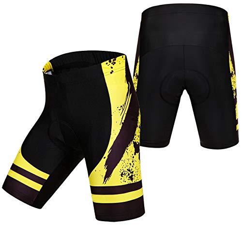 Culotes Ciclismo Hombre Gel Corto,Apretado Pantalones Cortos de Ciclismo,Hombres y Mujeres Verano...