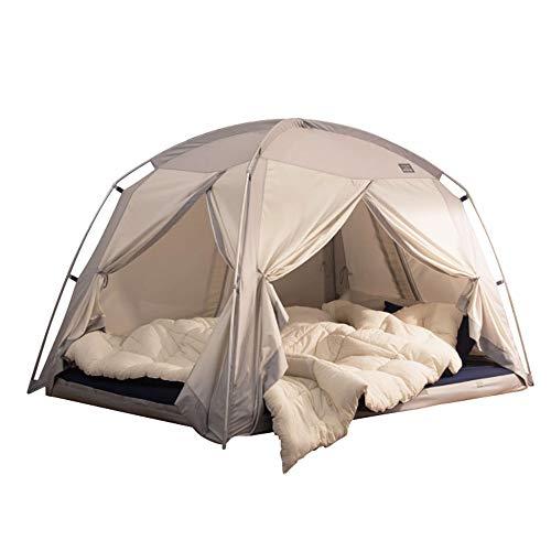 タスミ 暖房テント シグネチャー 4door Sサイズ グレー IDOOGEN 正規輸入元 コットン質感 洗える 簡単コンパクト収納 ハウスダスト対策 省エネ 室内テント