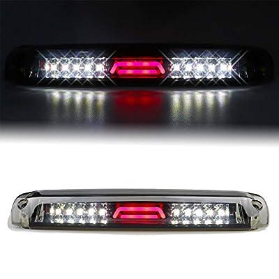 Youxmoto LED 3rd Brake Light High Mount Stop Light for 99-06 Chevrolet Silverado/GMC Sierra 1500-3500, 01-06 Chevrolet Silverado/GMC Sierra 1500-3500 HD Chrome Housing Smoke Lens