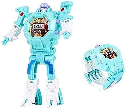 siyushop Transformar Toys Robot Watch 3 en 1 Proyección Kids Digital Watch Deformation Robot Toys para Boys Girls Gifts