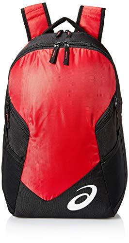 ASICS Unisex-Erwachsene Edge Ii Backpack Rucksack, rot/schwarz, Einheitsgröße