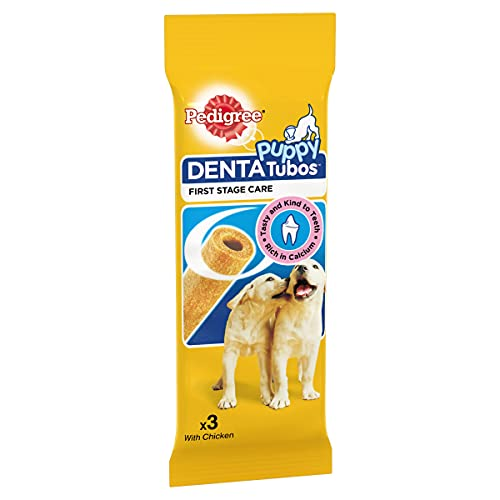 Pedigree Junior Denta Tubos, Dental Chews for Puppies and Young Dogs, 54...