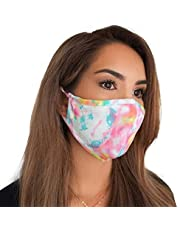 MASKIE Plus Adult 2-Ply Washable Cloth Face Mask Reusable and Adjustable with Filter Pocket