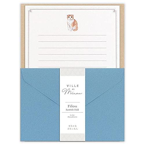 エヌビー社 レター Minou フィル | レターセット おしゃれ かわいい A5 相当 便箋 封筒