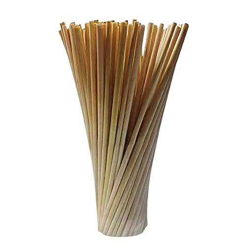 100 pezzi Cannucce in Cannucce Flessibili,Paglia di grano Protezione ambientale Paglia di grano creativa per feste calde,per feste / bar / negozi di bevande / cannucce per la casa