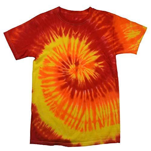 Colortone Colortone - Unisex Batik T-Shirt 'Rainbow' / Blaze, M