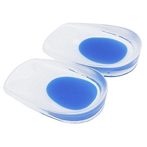 TechSmile Gel-Fersenkissen, 1 Paar, gegen Plantarfasziitis, Unterstützungs-Pads für Schuhe