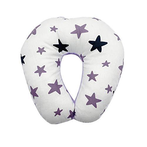 Cuscino da viaggio per bambini Cuscino per collo per bambini Cuscino per supporto per mento e collo con motivo a stella Cover super morbida per...