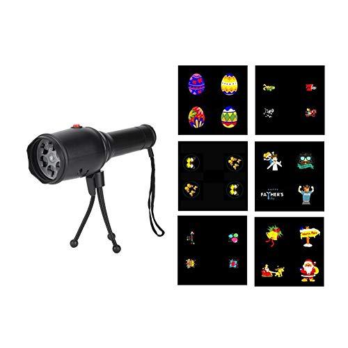 HERCHR Luces de proyector LED, 4W Proyectores de iluminación Decorativa con Lente de 4 Orificios con USB para...