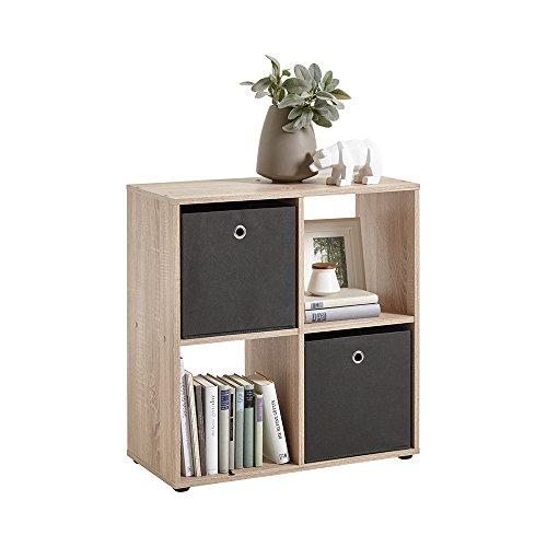 FMD Möbel 248-400 Mega 400 Regal, Holz, eiche, 70.1 x 33 x 73 cm