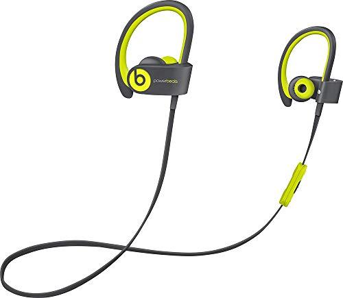 Beats by Dr dre Powerbeats2 Wireless In-Ear Bluetooth Headphone with Mic - Shock Yellow (Renewed)