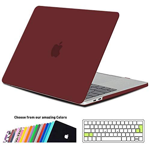 iNeseon MacBook Pro 15 Hülle Case 2019/2018/2017/2016, Hartschale Cover Schutzhülle mit Tastaturschutz für MacBook Pro 15 Zoll mit Touch Bar Modell A1707/A1990, Weinrot