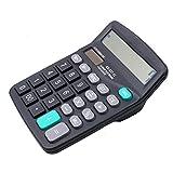 12 dígitos - Calculadora de escritorio Jumbo grandes botones solares para oficina financiera de negocios, herramienta contable